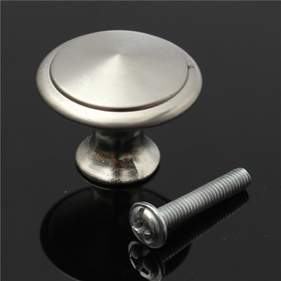 Solid Metal no cover loop back Button Large 24mm Nickel Upholstery button