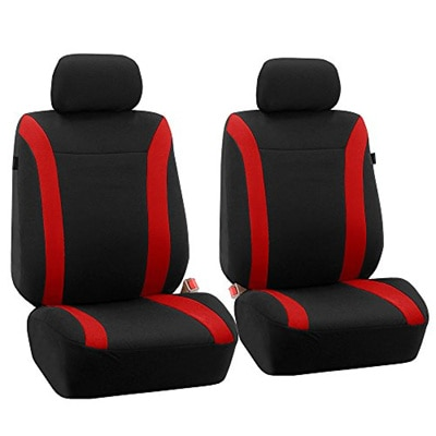 R 2Pcs PU Leather Car Seat Belt Shoulder pads Cover Black /& Red TOOGOO