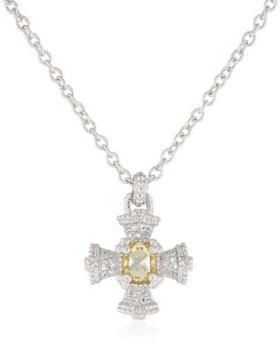 Sparkling Solitaire Clear Wings Charm Necklace 478