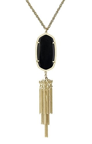 New Kendra Scott Betsy Gold Long Pendant Necklace In Red Mother of Pearl $150