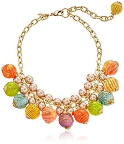 Delight Jewelry Awareness Ribbon Horseshoe 3 Bead Necklace