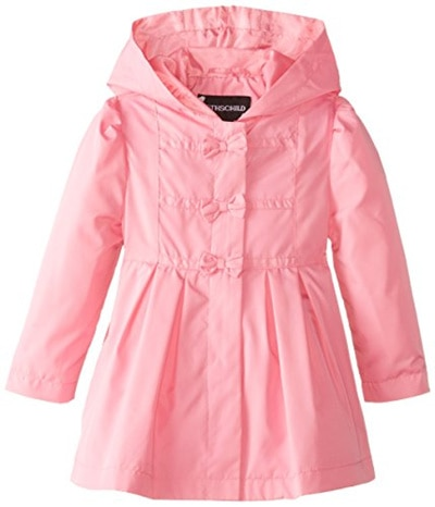 Young Hearts bright polka dot hooded ski coat//jacket faux fur lining 3T /& 6 NWT