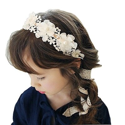 Hair clip Chinese New Year Red Mane Ball Butterfly flower Girls Baby Flow