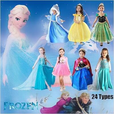 17a9c6fc390bd アナと雪の女王 Frozen ☆ 女の子ドレス アナと雪の女王ドレス シーズン