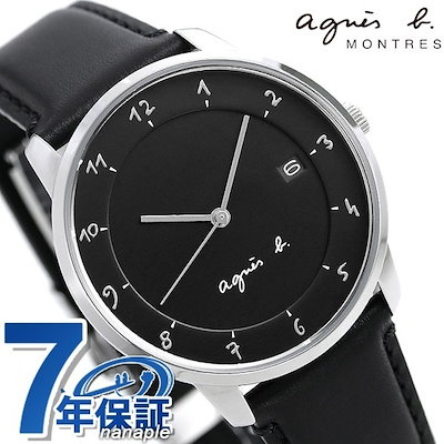 premium selection ee333 b819c アニエスベーアニエスベー 時計 メンズ マルチェロ ブラック FBRK995 agnes b. 腕時計 革ベルト