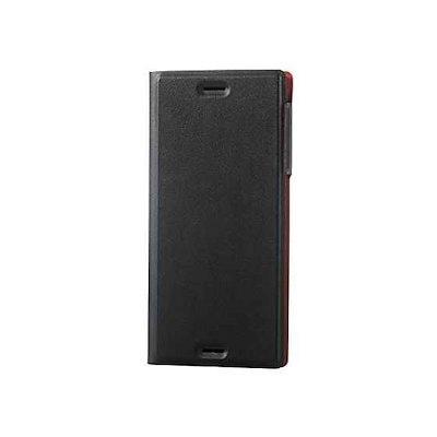 ab7f5689d6 Xperia XZ ケース SO-01J SOV34 ソフトレザーカバー 薄型 磁石付 [ブラック] ...