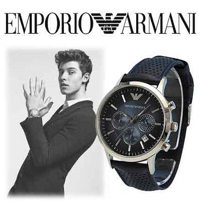 size 40 7fb1f b85e3 エンポリオアルマーニ【即納】エンポリオアルマーニ腕時計 Emporio Armani メンズ AR2473 ネイビー Renato[ 1年保証付]