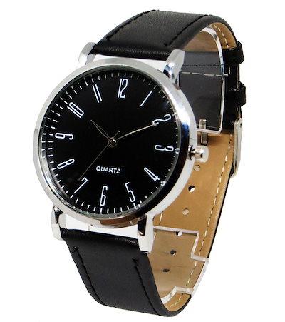 size 40 b47d1 5289a カジュアル腕時計 レザーベルト時計 ペアウォッチ ユニセックス ウォッチ(ブラック×ブラック)