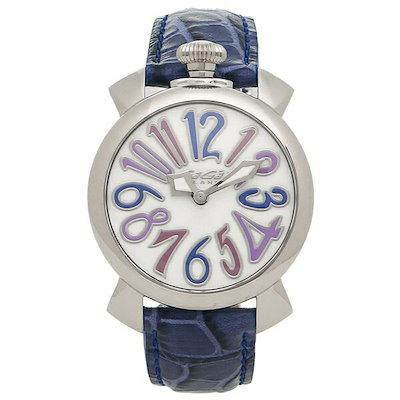 online retailer c333c 6d3bc ガガミラノ 時計 GAGA MILANO 5020.3-BLU-NEW MANUALE マヌアーレ 40MM レディース/メンズ 腕時計 ウォッチ  ホワイトパール/ブルー