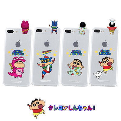 02104c821b [ クレヨンしんちゃん Crayon ShinChan ] フィギュア クリア スマホケース 携帯 ケース 透明カバー 正規品