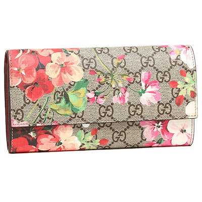 finest selection 9bab5 6a156 グッチグッチ 財布 GUCCI 404070 KU2IN 8693 GG BLOOMS SUPREME CONTINENTAL WALLET 長財布  B.EB MULTI/DRY ROSE