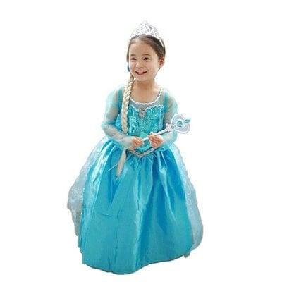 8338de2dc9760 コスプレ衣装 子供用ドレス アナと雪の女王 エルサ 子供用ワンピース Frozen