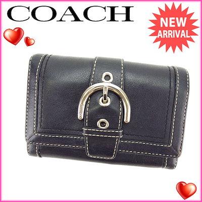 f8221f0cb4bf コーチ COACH L字ファスナー財布 二つ折り 中長財布 メンズ可 ベルトデザイン ブラック