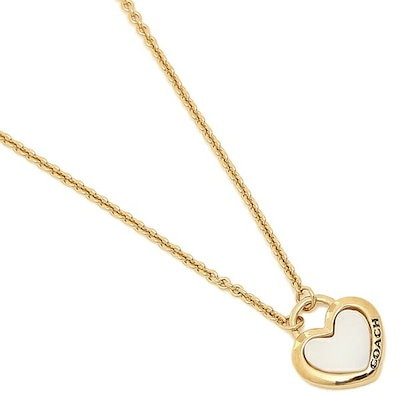 2a284f6753f6 コーチ ネックレス アクセサリー アウトレット COACH F67111 GDWHT PEARL HEART NECKLACE レディース ペンダント  WHITE/GOLD