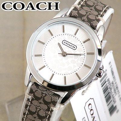 094c2674aad6 【送料無料】COACH コーチ クラシックシグネチャー 白 ホワイト レディース 腕時計 レザー 14501526 海外モデル
