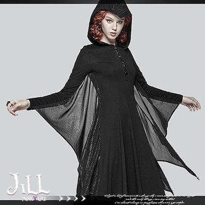 ゴスロリ ワンピース 服 大きいサイズ ドレス v系ファッション レディース PUNK RAVE 【T001,HALN0551】