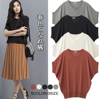 907860e04e4 サラサラブラウス❕❕韓国 夏の 新作ファッション 半袖ラウンドネックゆったりシャツ気質