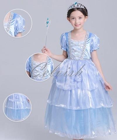 c5308b42e0085 シンデレラ 風 子供 ドレス プリンセスドレス ハロウィン 衣装 仮装 ディズニー USJ C-2958S303