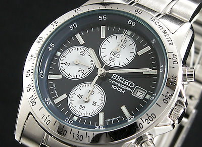 timeless design c7fc8 b86c4 セイコーセイコー SEIKO クロノグラフ 腕時計 SND365