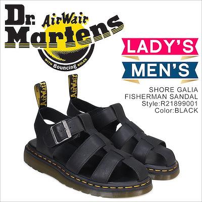 ドクターマーチン サンダル レディース メンズ Dr.Martens レザー SHORE GALIA FISHERMAN SANDAL  R21899001 ブラック