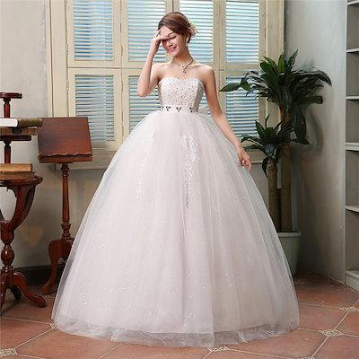 352abb566 ウェディングドレス☆ウエディングドレス☆パーティードレス☆ロングドレス♪エンパイアライン 妊婦に