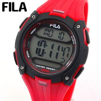 classic fit 6df65 ce4ab フィラ【送料無料】FILA フィラ 38-094-003 メンズ 腕時計 ウレタン カジュアル デジタル 黒 ブラック 赤 レッド 誕生日プレゼント  男性 ギフト 海外モデル