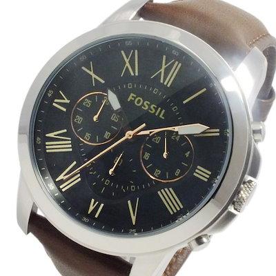 421127f7a0 フォッシル FOSSIL グラント クオーツ メンズ クロノ 腕時計 FS4813 ブラウン ...