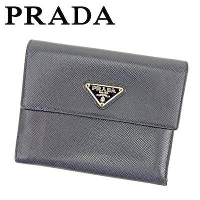 c1595a639aa5 プラダ PRADA 三つ折り 財布 二つ折り 財布 レディース メンズ 可 ブラック レザー 人気 セール 【