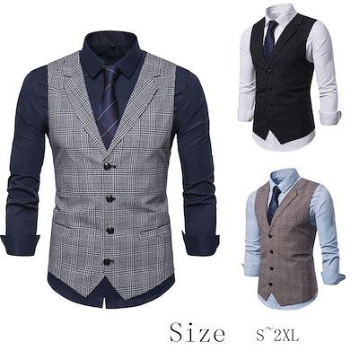 Qoo10] ベスト 紳士服 メンズ チョッキ : メンズファッション