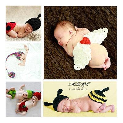 f3d67952592f4 ベビー 新生児 赤ちゃん 着ぐるみ ミッキー エンゼル テントウムシ ディズニー ベビー服 写真撮影用 帽子 子供 コスチューム 仮装
