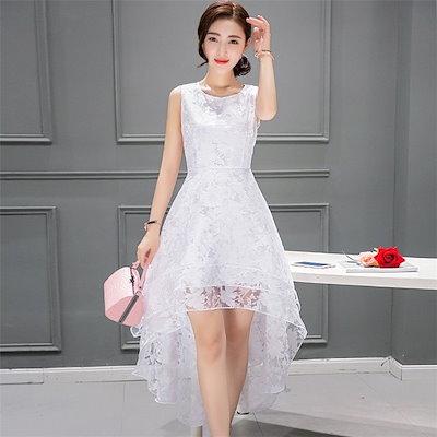 3f203259e1de2 ホワイト 白 マキシワンピース シフォンワンピース ドレス マキシ丈ワンピース 通勤 結婚式春 ロング マキシ