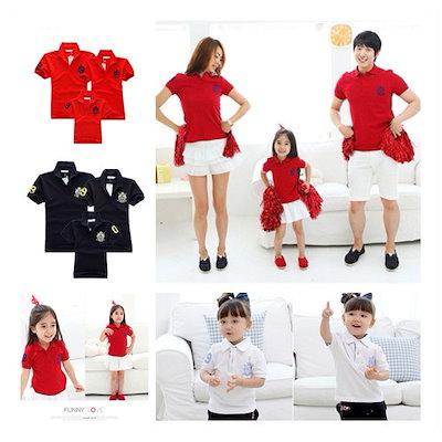 c5002335470bf  ポロuvネック☆🌸韓国ファッション POLO親子ペアルック子供服ミッキーディズニー