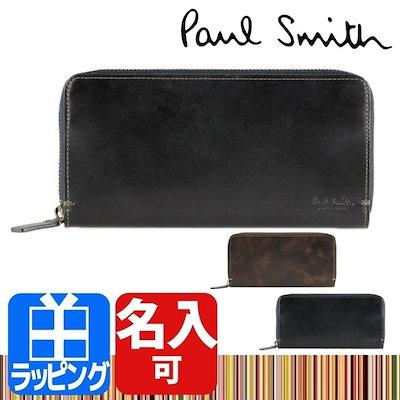 be42db04cf13 名入れ・ラッピング対応☆ Paul Smith ポールスミス ラウンドファスナー長財布 PC