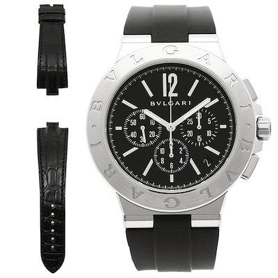 the best attitude c1111 972bb ルイヴィトンブルガリ 時計 BVLGARI DG41BSVDCHーSETーBLK ディアゴノ 自動巻き メンズ腕時計 ウォッチ ブラック/シルバー