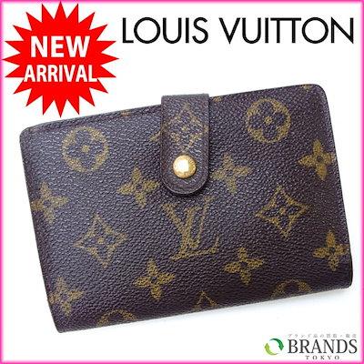 brand new b9553 4951e ルイヴィトン Louis Vuitton がま口財布 二つ折り メンズ可 /ポルトモネ ビエヴィエノワ モノグラム M61663 ブラウン ...
