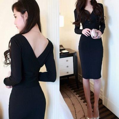 f3b75c59c03b5 レディース 大きいサイズ 黒ワンピース ドレス ドレス パーティードレス ロングワンピース オルチャン 韓国ファッション ドレス 結婚