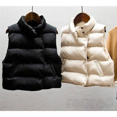 6329388a55426f [Qoo10] 中綿ジャケット ベスト 無地 子ども 中... : レディース服