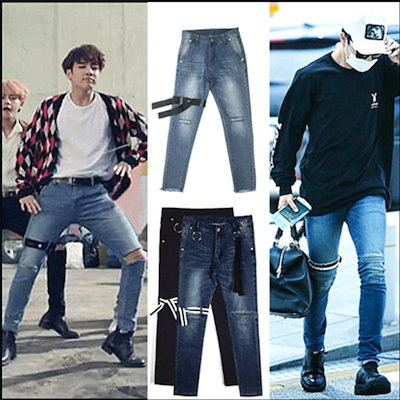 個性的ズボン! 韓国ファッション JUNG KOOK/ V/SUGA/J,HOPE