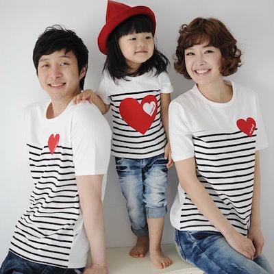 ccf3d910c2270 Qoo10  韓国子供服親子ペアルック半袖Tシャツ春   キッズ