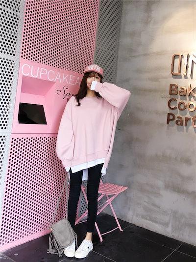 韓国ファッション 女兼用 トップス 韓国 パーカー・トレーナー 大人気