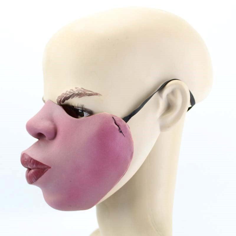 [Qoo10] 変顔マスク (チュー) 半顔 お面 マスク かぶりもの 覆面 衣装 変装グッズ 仮面 流行 仮装 コスプレ 大人用 忘年会 新年会  おもしろ パーティーグッズ ユニーク mt801xxxxxxxx