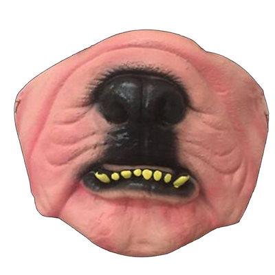 変顔マスク (ブルドック) 半顔 お面 かぶりもの 覆面 衣装 変装グッズ 仮面 流行 仮装 コスプレ 大人用 忘年会 新年会 おもしろ リアル  ユニーク 怖い ホラー mt833xxxxxxxx