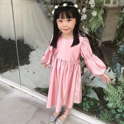 7566c1cb1d854 女の子 ドレス 秋 長袖 礼服 ロングスカート 韓国版 ピアノ 発表会 ドレス 子供 結婚式