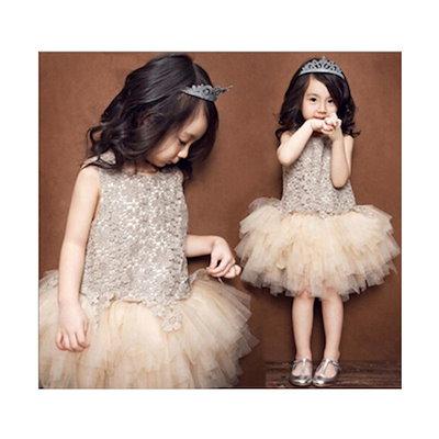 cde341a530d16 子供ドレス ピアノ発表会 子供ドレス 発表会 子どもドレス フォーマル 七五三 ジュニアドレス ベージュ