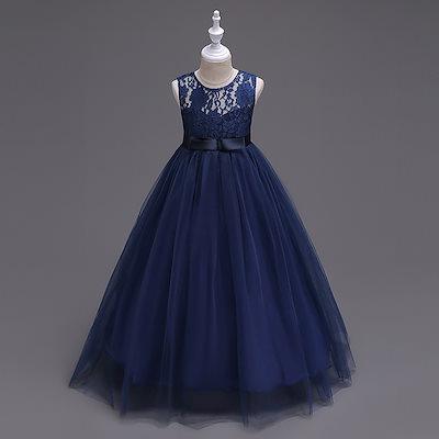 f5101b3f92dcc 子供ドレス 結婚式 入学式 ロングドレス女の子ワンピース ピアノ発表会 子供服 キッズ