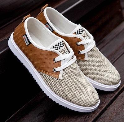 新しい夏靴通気性メンズカジュアルシューズ