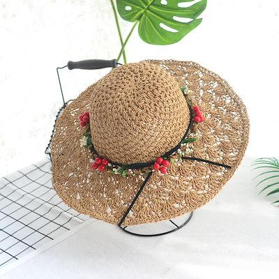 b583ded7eb4870 日よけ 折りたたみ UVカット 春 夏 ストローハット 麦わら帽子 帽子 レディース 紫外線対策