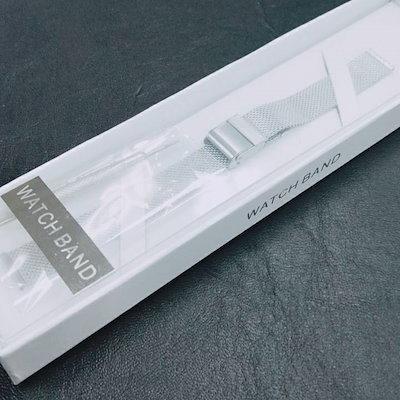 quality design 627f6 cf117 時計バンド ステンレス メッシュベルト 12mm ユニセックス メンズ レディース 腕時計 替えベルト【シルバー 12mm】