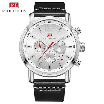cab5b2952e 送料無料☆ 腕時計 MINI FOCUS 高級ブランド メンズ シンプル クオーツ ストップウォッチ 3気圧