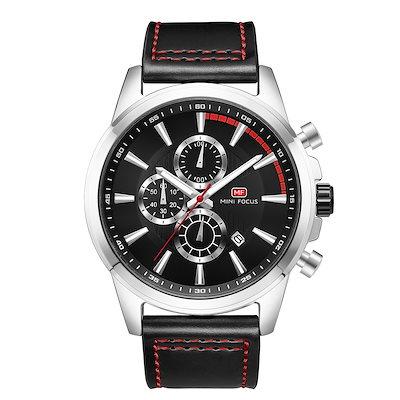 a8ac6a9958 送料無料☆ 腕時計 MINI FOCUS 高級ブランド メンズ シンプル クオーツ 多針 ストップウォッチ